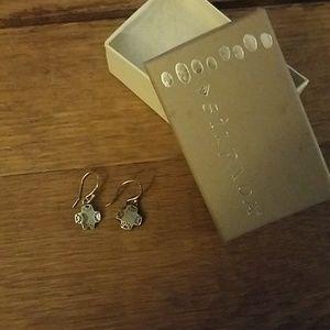 Silpada little prayer sterling cross earrings
